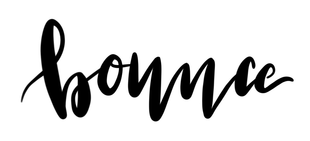 Klassisches bounce lettering mit brush pen bei dem die Buchstaben auf der Grundlinie bouncen d.h. huepfen und so den typischen Brush Lettering Effekt erzeugen