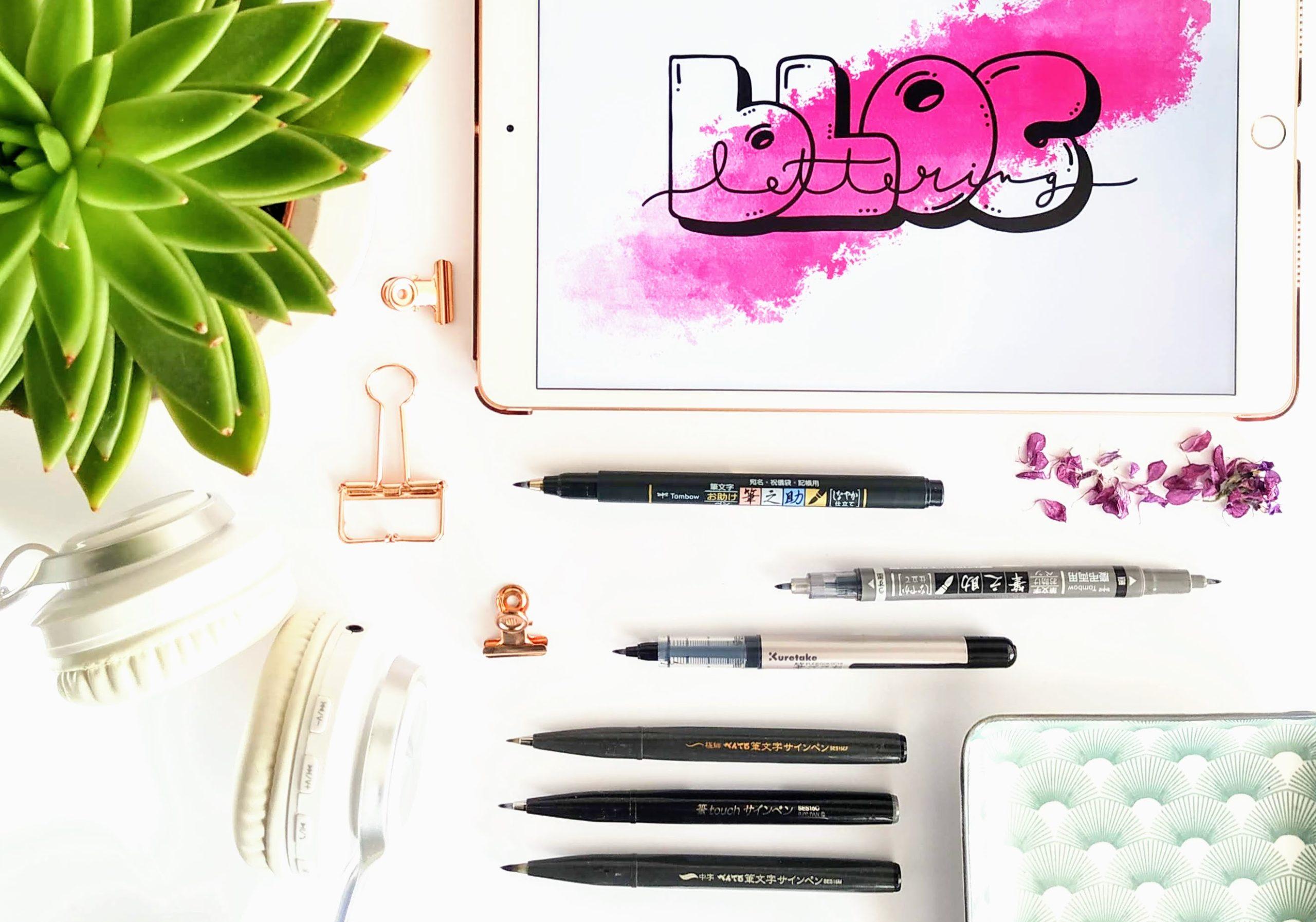verschiedene brush pens - empfehlung für brushlettering