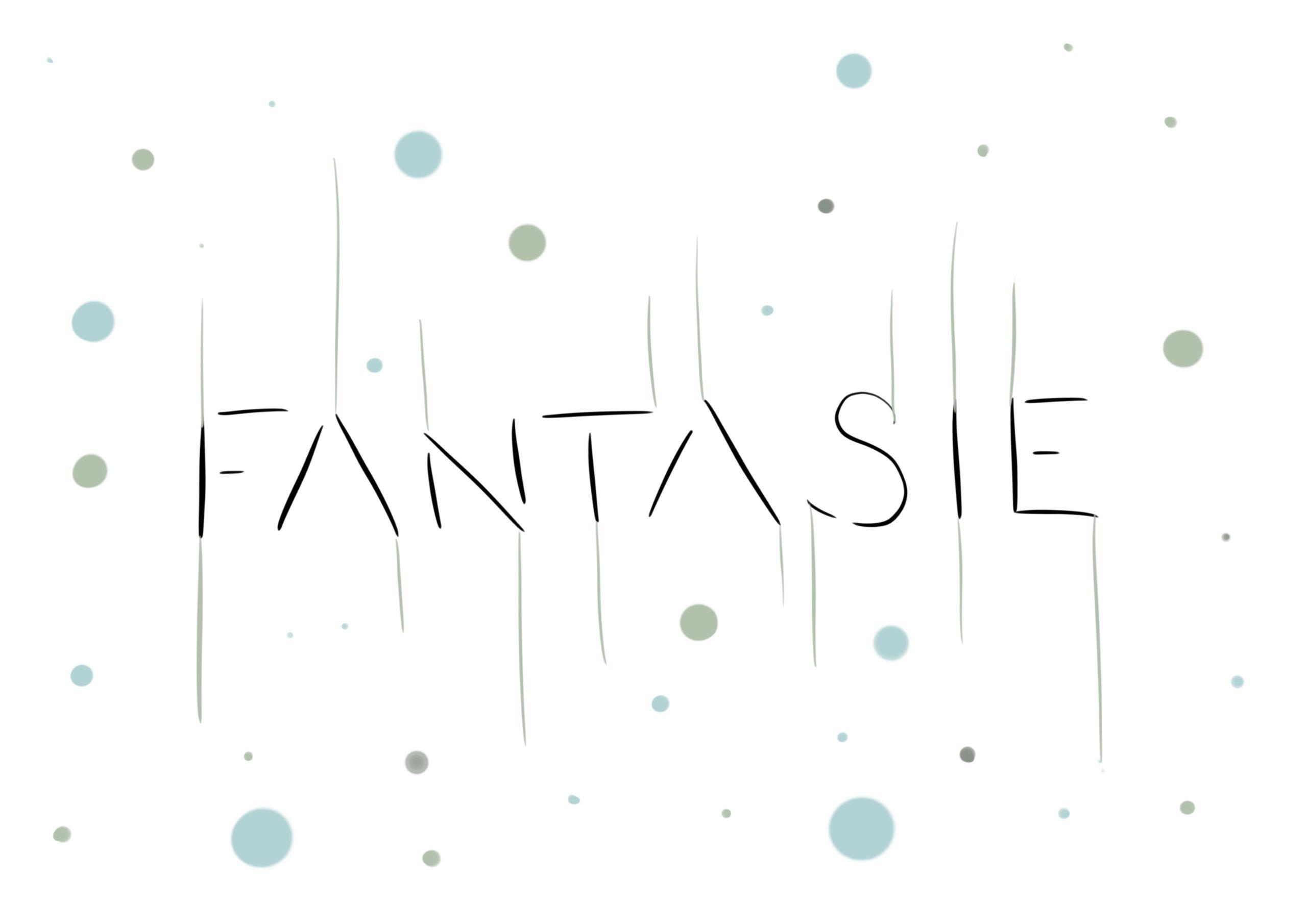 Eine ungewöhnliche Lettering Schrift mit offenen Buchstaben aus dem Fantasy Font Lettering Alphabet. Jeder Buchstabe wird ergänzt durch senkrechte Linien. Abgerundet wird das Brushpen Lettering durch Kreise und Punkte, die mit dem Brushoen hinzugefügt wurde.