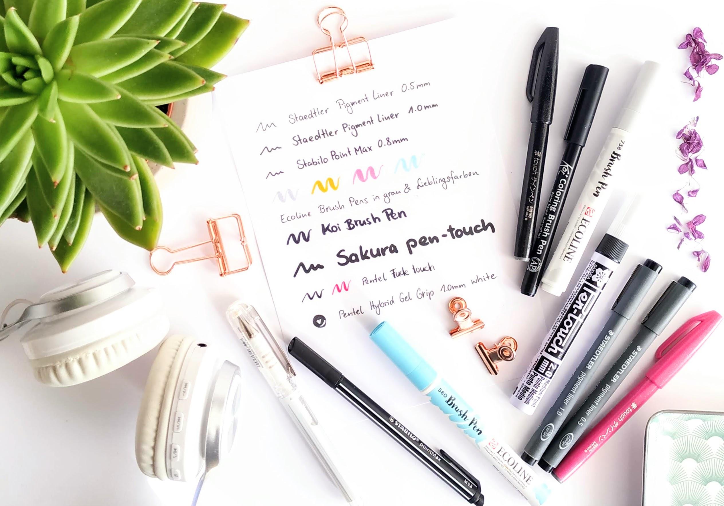 Liste mit Lettering Stiften für Anfänger - das ideale Starter-Set