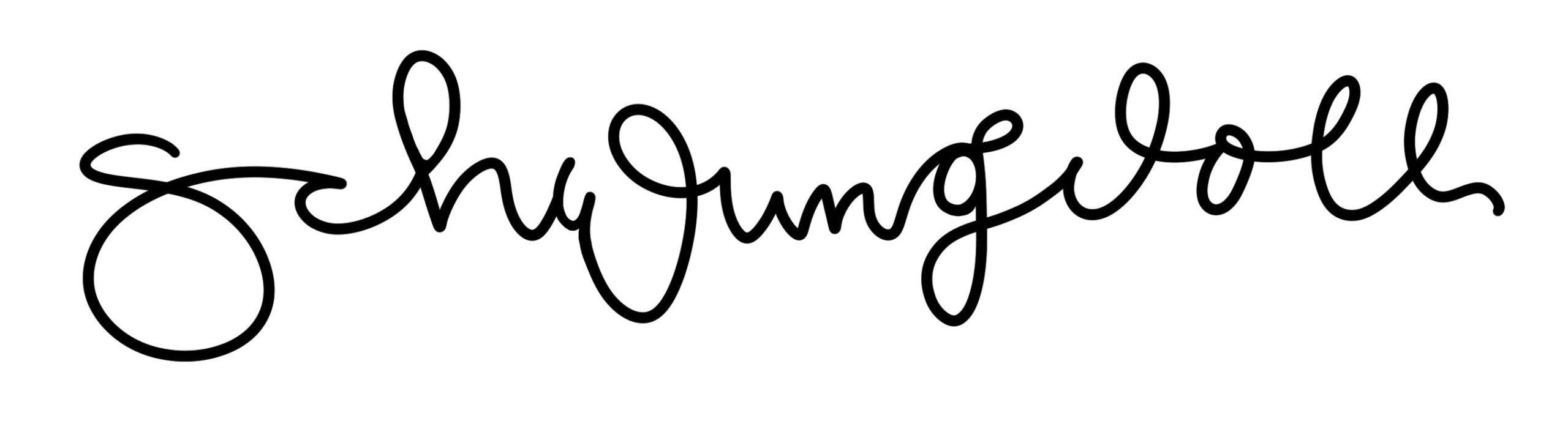 Schwungvolles Lettering als Basic fuer das Brushpen Lettering mit schoen geschwungenen Buchstaben gelettert mit Fineliner bzw. pigment liner