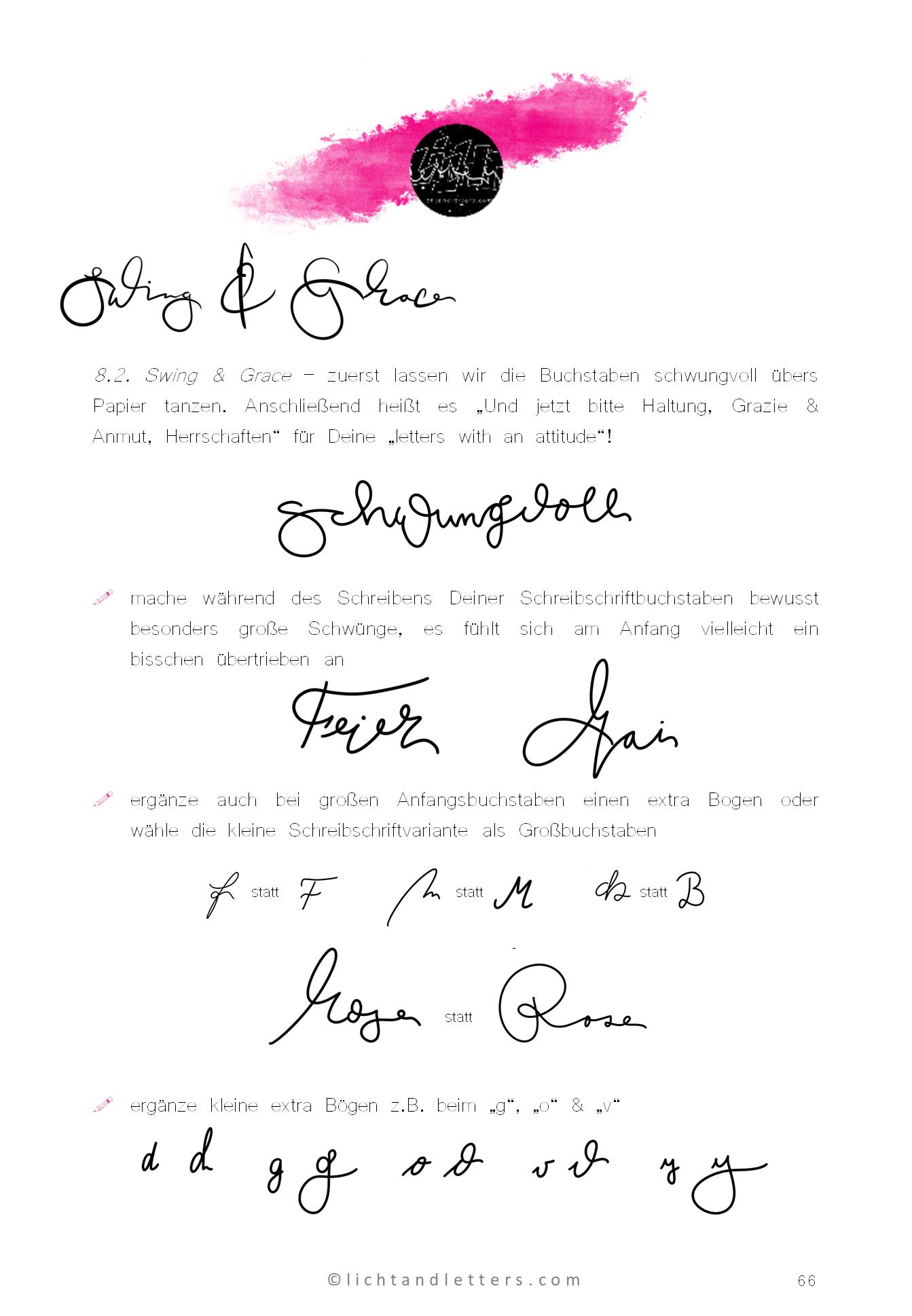 Viele Bilder mit Lettering Sprüchen hängen an einer Wand und zeigen den Stil - Mix von moderner Hand Lettering Schrift