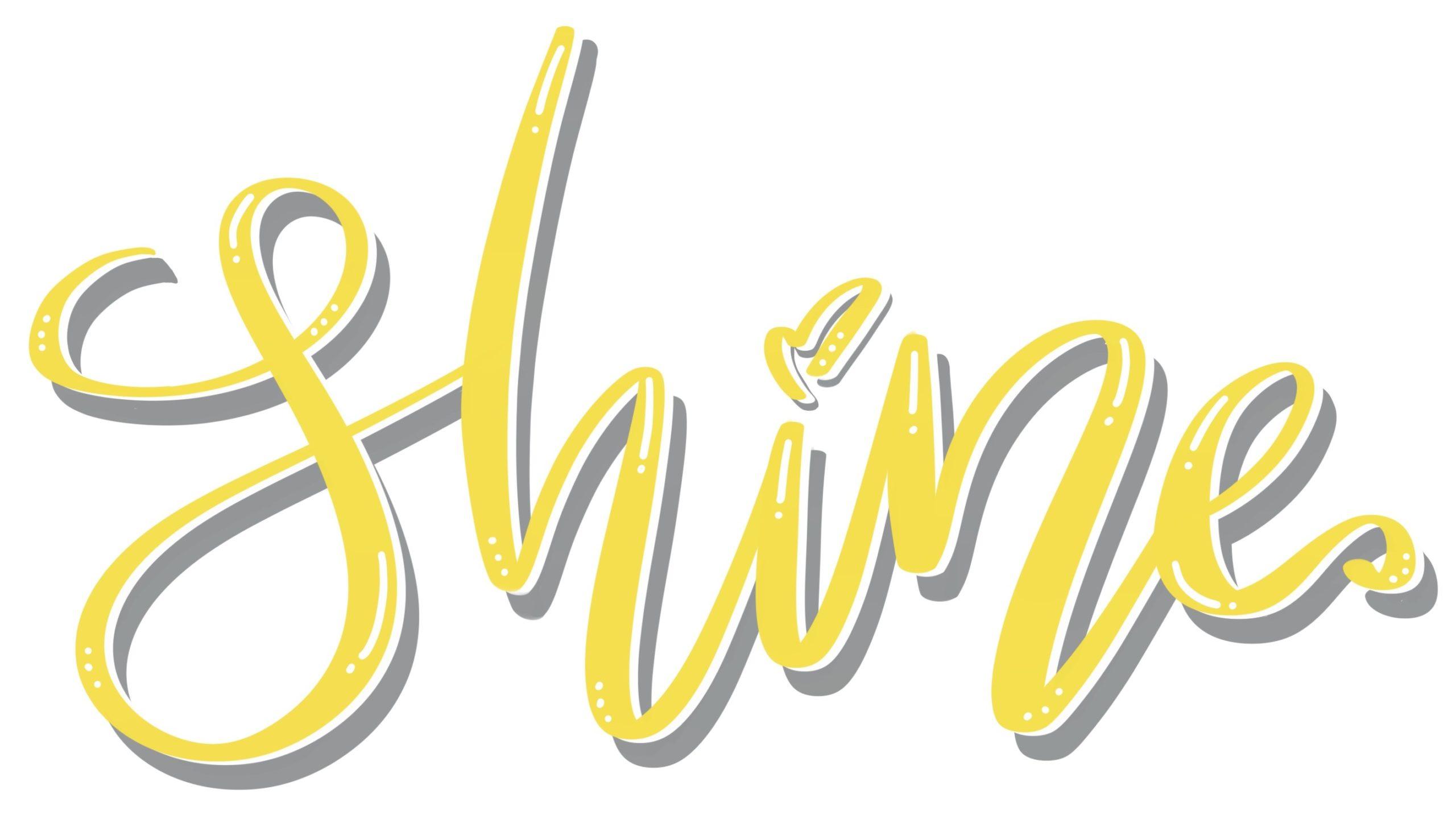 Brushlettering in Pantone Farben 2021