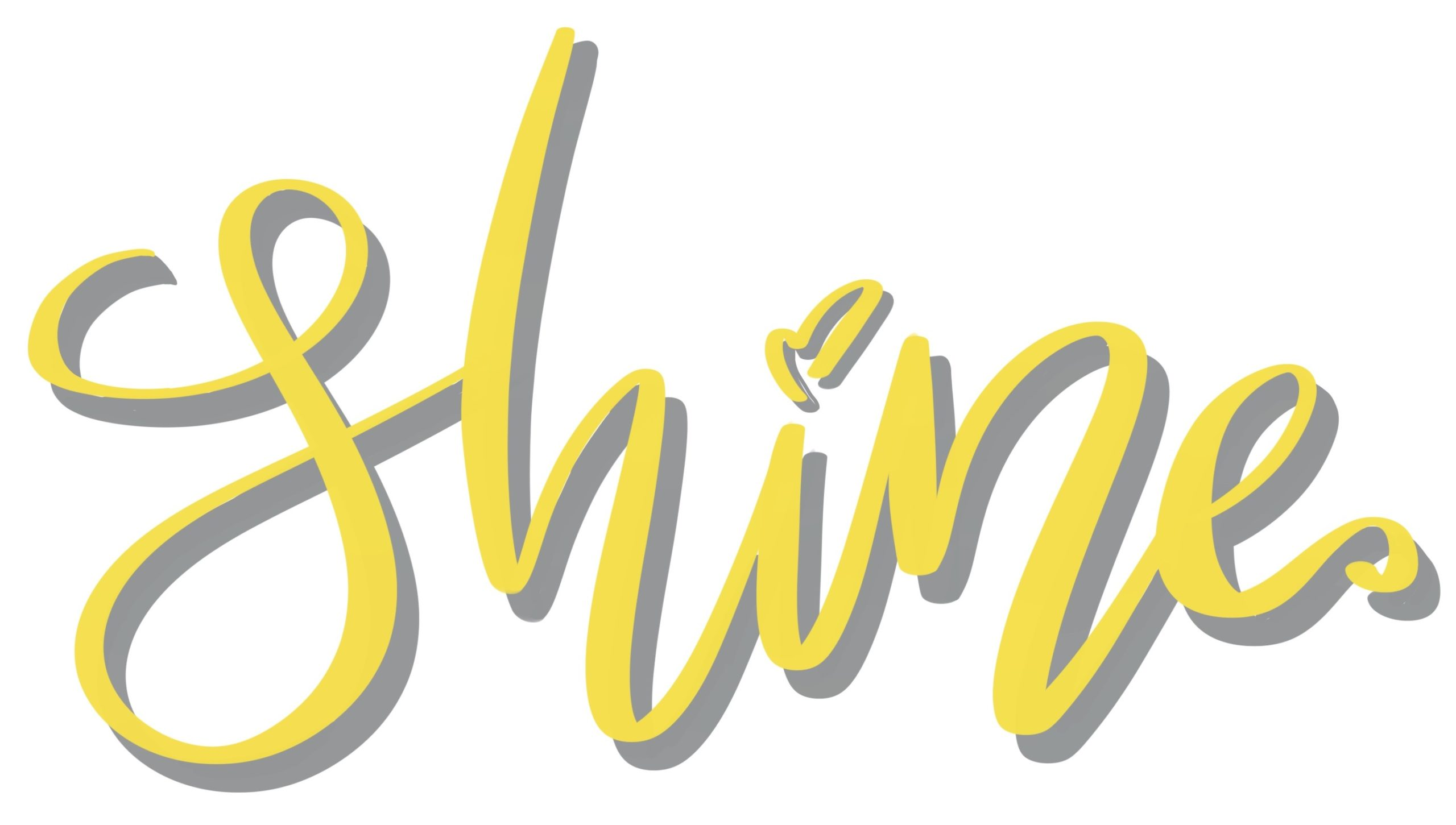 Hand Lettering in Pantone Farben 2021 gelb grau