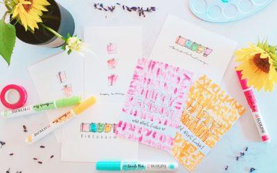 Happy Birthday Handlettering – 3 quick & easy Ideen für eine Handlettering Geburtstagskarte